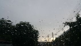 Rain on Glass Royalty Free Stock Image