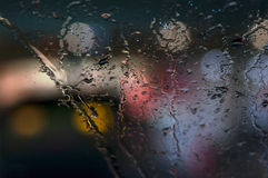 Rain and glass Royalty Free Stock Photo