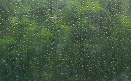 Rain on glass Royalty Free Stock Photography