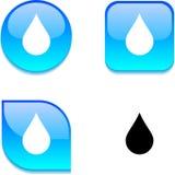 Rain glossy button. Royalty Free Stock Photo