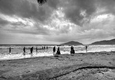 Rain in Goa's Palolem beach Stock Images