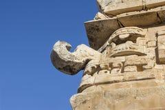 Rain god Chaac on Maya temple Royalty Free Stock Photo
