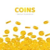 Rain gold dollars cartoon frame Royalty Free Stock Images