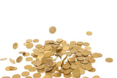Rain of golden coins Stock Image
