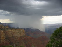 Rain in Grand Canyon. Storm brewing over Grand Canyon Stock Image