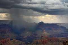 Rain in Grand canyon Royalty Free Stock Photography