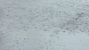 Rain on granite stock footage