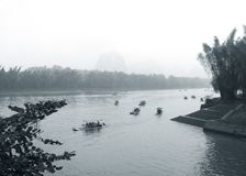 Rain Guilin scenery Royalty Free Stock Image