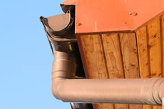 Rain gutter Stock Photography