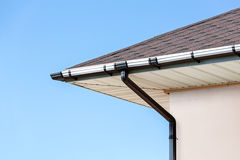 Rain gutter with drainpipe Royalty Free Stock Images