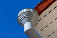 Rain gutter on house Royalty Free Stock Images