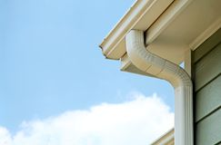 Rain gutters royalty free stock images