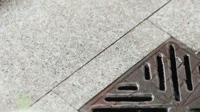 Rain Gutters on granite tile stock video