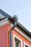 Rain gutters on a home Royalty Free Stock Photography