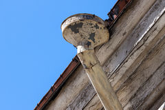 Rain gutters on old home Stock Images