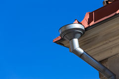 Rain gutters on old home Stock Photography
