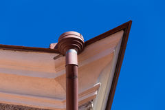 Rain gutters on old home Royalty Free Stock Photos