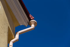 Rain gutters on old home Royalty Free Stock Photography