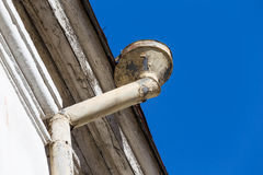 Rain gutters on old home Royalty Free Stock Images
