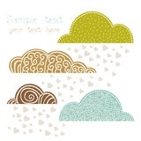 Rain of heart with clouds, autumn background Stock Photography
