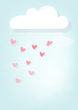 Rain of hearts Royalty Free Stock Image