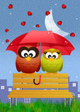 Rain of hearts Stock Images