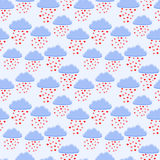 Rain of hearts Royalty Free Stock Photo