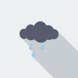 Rain icon Royalty Free Stock Photos