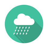 Rain Icon. Rain vector Glyphs Shadow Icon royalty free illustration