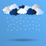Rain illustration Stock Photography