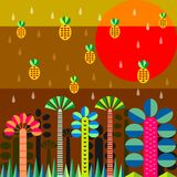 Rain in jungle Royalty Free Stock Photo