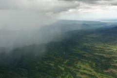 Rain in the Kronotsky Nature Reserve on Kamchatka Peninsula. Royalty Free Stock Photos