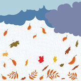 Rain and leaf fall Stock Photos