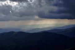 Rain of light. Vintage look at rainy Tatry - Slovak republic Stock Photos