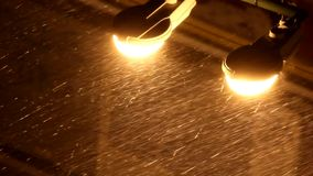 Rain and lights stock video footage