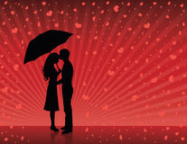 Rain of love. royalty free illustration