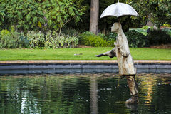 Rain Man statue in St Kilda Botanical Gardens Royalty Free Stock Photo