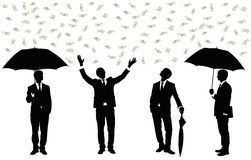 Rain of money. Royalty Free Stock Photography
