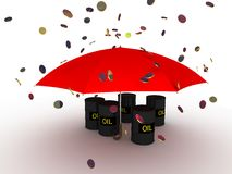 Rain from money Royalty Free Stock Photography