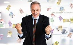 Rain of money Stock Images