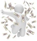 Rain of money. 3d render Stock Image