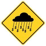 Rain Of Money Sign Stock Photography