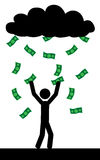 Rain with money Royalty Free Stock Photos