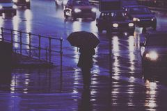 Rain. In Moscow Royalty Free Stock Image