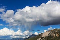 Rain in mountains Stock Image