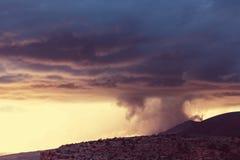 Rain in mountains Stock Photos