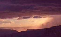 Rain in mountains Stock Photo