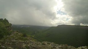 Rain in the mountains. Crimea. Ukraine. stock video