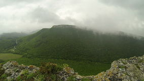 Rain in the mountains. Crimea. Ukraine. stock video footage