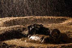Rain mud mask Stock Photos